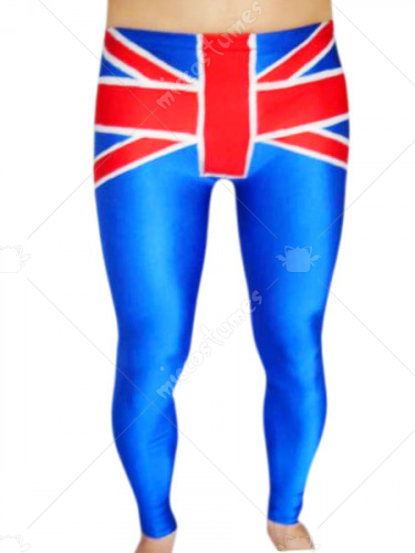 Blue And Red Spandex Pants
