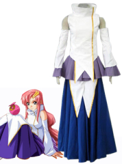 Blue and white gundam seed lacus cosplay costume