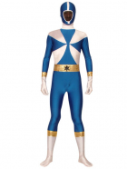 Blue And White The Terminator Lycra Spandex Super Hero Costume