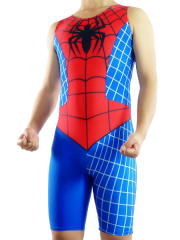 Blue Black And Red Lycra Spandex Spider Man Super Hero Catsuit