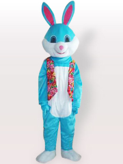 Blue Easter Bunny Rabbit Adult Mascot Costume