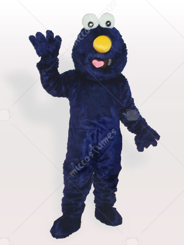 Blue Fur Man Adult Mascot Costume