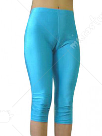 Blue Lycra Sexy Cropped Trousers