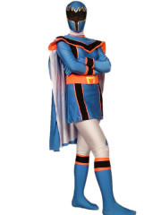 Blue Lycra Spandex Super Hero Zentai Suit