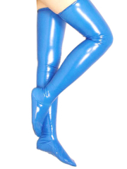 Blue Sexy PVC Stockings