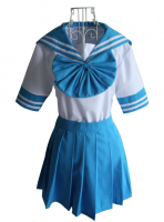 Blue Short Sleeves Japanese School Uniform