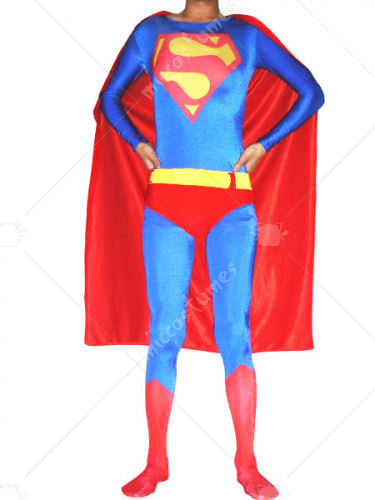 Blue Spandex Super Hero Costume