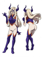 My Hero Academia Mount Mt Lady Jumpsuit Cosplay Costume