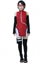 Boruto: Naruto the Movie Sarada Uchiha Cosplay Costume