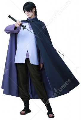 Boruto Naruto The Movie Sasuke Uchiha Cosplay Costume