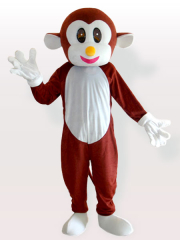 Bouncing Monkey Brown Adult Mascot Costume