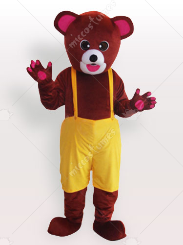 Brown Bear in Biboveralls Adult Mascot Costume