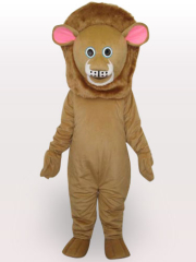 Brown Lion Short Plush Adult Mascot Costume
