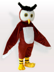 Brown Owl Adult Mascot Costume