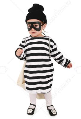 Kids Burglar Robber Costume