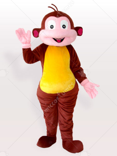 Cartoon Monkey Brown Adult Mascot Costume