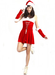 Christmas Santa Corset Dress