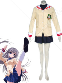 Clannad Grade Two Girl School Uniform Cosplay Costume