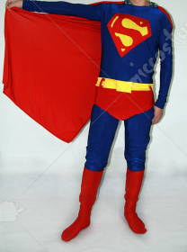 Classic Blue And Red Superman Super Hero Catsuit