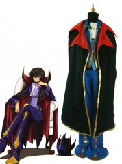 Code Geass Lelouch of the Rebellion Zero Cosplay Costume