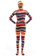 Colorful stripes lycra zentai suit