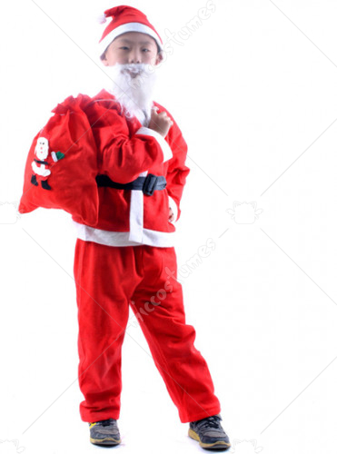 Complete Santa Suit Costume For Boy