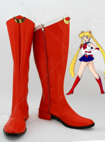 Sailor Moon Tsukino Usagi Cosplay Shoes Boots Red