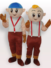 Couple Boys Short Plush Adult Mascot Costume