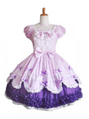 Cute Puff Sleeves Sweet Lolita Cosplay Dress