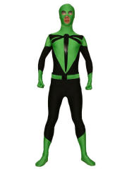 Dargonfly Green And Black Spandex Zentai Suit