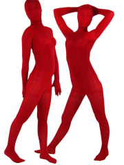Dark Red Velvet Unisex Zentai Suit