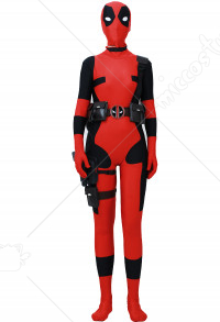 Fullset Deadpool Female Cosplay Costume