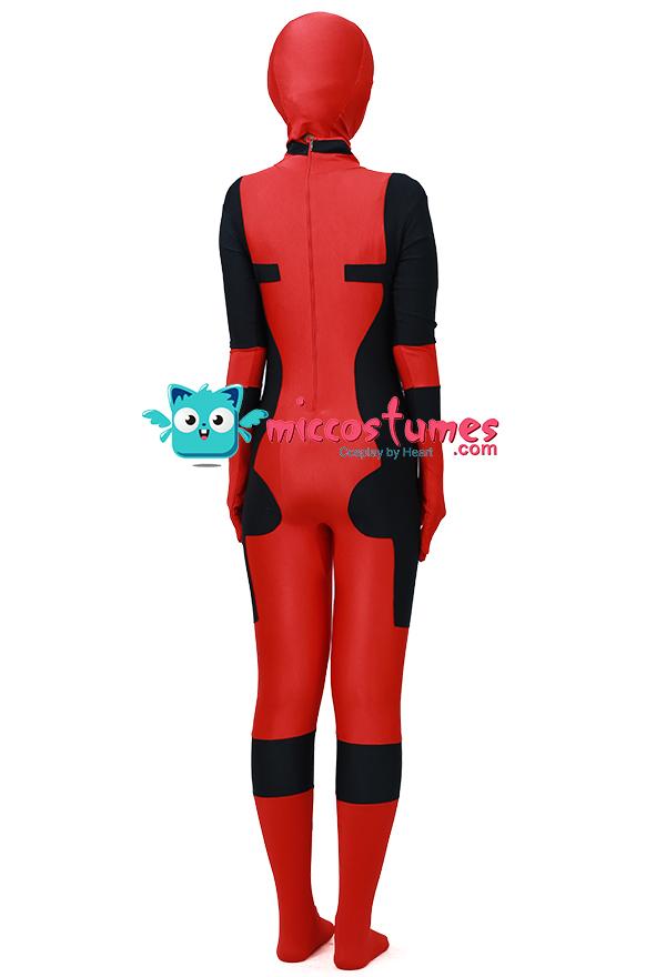 Superheld Kinder Cosplay Kostüm Inspiriert von Deadpool Film Fertigung nach Auftrag