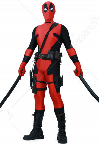 Adult Fullset Deadpool Jumpsuit Cosplay Costume Spandex Lycra Zentai for Halloween