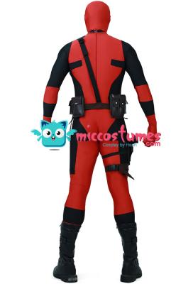 Adult Fullset Deadpool Jumpsuit Cosplay Costume Halloween