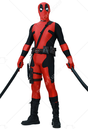 Adult Fullset Deadpool Jumpsuit Cosplay Costume Halloween