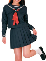 Deep Blue Long Sleeves School Uniform