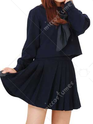 Deep Blue Tie School Uniform