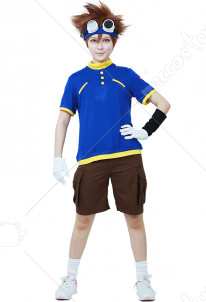 Digimon Adventure Boys Tai Kamiya Kid Cosplay Costume
