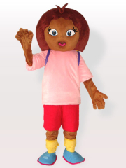 Dora in Pink Shirt Adult Mascot Costume