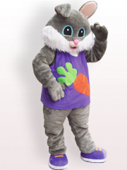 Easter Bunny Rabbit Plush Adult Mascot Costume