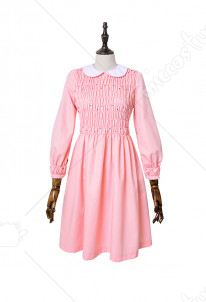 Stranger Things Eleven Pink Dress Girls Dress Costume