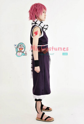 Fairy Tail Natsu Dragneel Purple Cosplay Costume