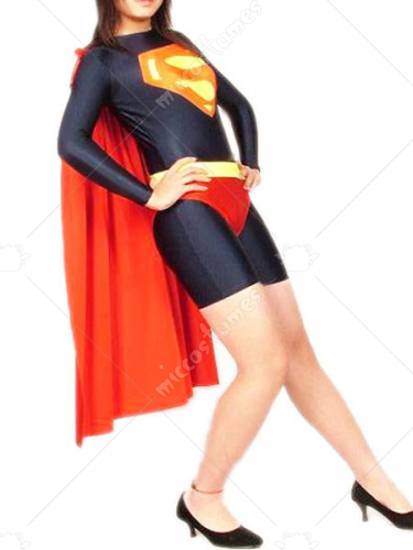 Female Super Man Lycra Spandex Super Hero Catsuit