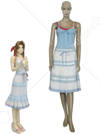 Final Fantasy VII Aerith Gainsborough Cosplay Costume