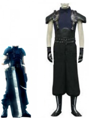 Final Fantasy VII Last Order Zack Fair Cosplay Costume