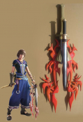 Final Fantasy XIII-2 Noel Kreiss Cosplay Weapon Flame Fossil