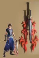 Final Fantasy XIII-2 Noel Kreiss Cosplay Weapon Flame Fossil