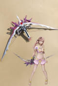 Final Fantasy XIII-2 Serah Farron Cosplay Starseeker Bowsword New Version
