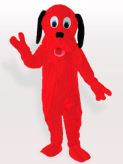 Fire Red Dog Adult Mascot Costume